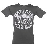 Men's Charcoal Lynyrd Skynyrd Biker Patch Print T-Shirt