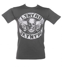 Men's Charcoal Lynyrd Skynyrd Biker Patch Print T-Shirt [View details]