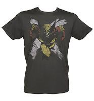 Men's Charcoal Marvel Comics Wolverine T-Shirt from Junk Food