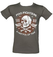 Men's Charcoal Matter Of Time Foo Fighters T-Shirt [View details]