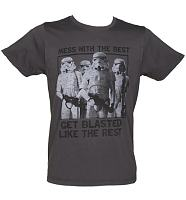 Men's Charcoal Mess With The Best Star Wars T-Shirt from Junk Food