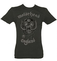 Men's Charcoal Motorhead England T-Shirt from Amplified Vintage [View details]