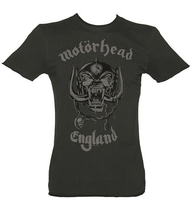 Mens Charcoal Motorhead England T-Shirt from Amplified Vintage