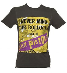 Men's Charcoal Never Mind The Bollocks Sex Pistols T-Shirt from Amplified Vintage [View details]