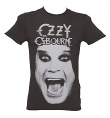 Men's Charcoal Ozzy Osbourne T-Shirt from Amplified Vintage [View details]
