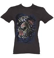 Men's Charcoal Paradise City Guns N Roses T-Shirt from Amplified Vintage