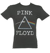 Men's Charcoal Pink Floyd Dark Side Of The Moon T-Shirt from Amplified Vintage