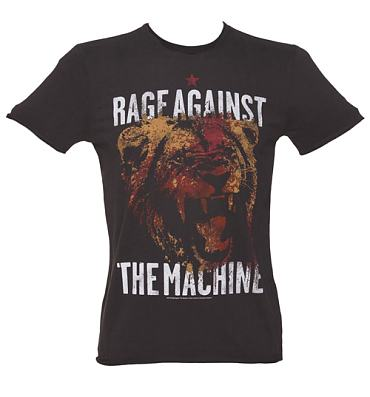 Men's Charcoal Rage Against The Machine T-Shirt from Amplified Vintage