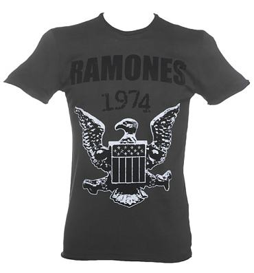 Men's Charcoal Ramones 1974 T-Shirt from Amplified Vintage