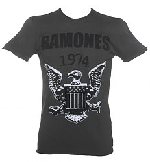 Men's Charcoal Ramones 1974 T-Shirt from Amplified Vintage [View details]