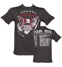 Men's Charcoal Ramones 1976 Tour Front And Back Print T-Shirt from Amplified Vintage [View details]