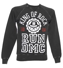 Men's Charcoal Run DMC King Of Rock Sweater from Amplified Vintage [View details]