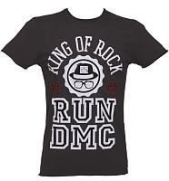 Men's Charcoal Run DMC King Of Rock T-Shirt from Amplified Vintage