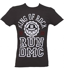 Men's Charcoal Run DMC King Of Rock T-Shirt from Amplified Vintage [View details]