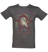 Men's Charcoal Santa Monica 1972 David Bowie As Ziggy Stardust T-Shirt