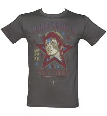 Men's Charcoal Santa Monica 1972 David Bowie As Ziggy Stardust T-Shirt [View details]