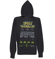 Men's Charcoal Space Invaders Vintage Hoodie