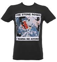 Men's Charcoal Stone Roses Wanna Be Adored T-Shirt from Amplified Vintage