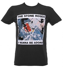 Men's Charcoal Stone Roses Wanna Be Adored T-Shirt from Amplified Vintage [View details]