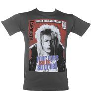 Men's Charcoal Your Eyes Can Be So Cruel Bowie Labyrinth T-Shirt