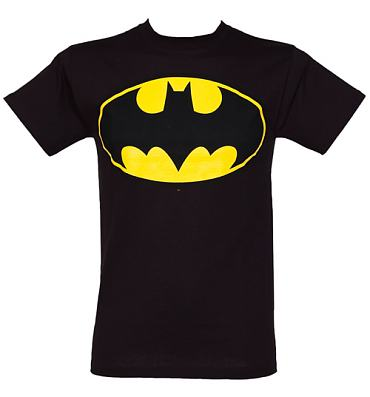 Men's Classic Batman Logo Black T-Shirt from Urban Species