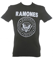 Men's Classic Charcoal Ramones Logo T-Shirt from Amplified Vintage [View details]