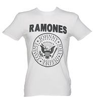 Men's Classic White Ramones Logo T-Shirt from Amplified Vintage