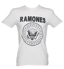 Men's Classic White Ramones Logo T-Shirt from Amplified Vintage [View details]