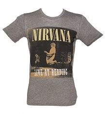 Men's Dark Grey Marl Live In Reading Nirvana T-Shirt from Chaser LA [View details]