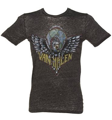 Men's Dark Grey Marl Van Halen Logo T-Shirt from Chaser LA