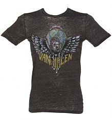 Men's Dark Grey Marl Van Halen Logo T-Shirt from Chaser LA [View details]