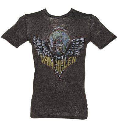 Mens Dark Grey Marl Van Halen Logo Tshirt from Chaser LA