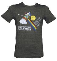 Men's Dark Side Of Button Moon T-Shirt