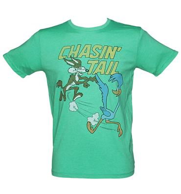 Men's Dark Turquoise Chasin Tail Loony Tunes T-Shirt from Junk Food