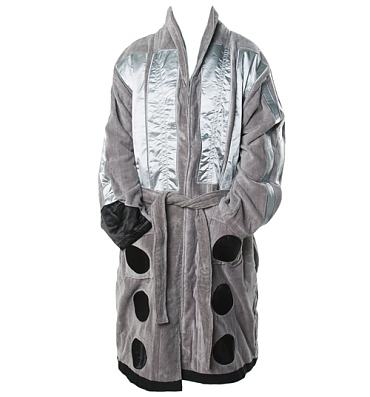 Men's Doctor Who Silver Dalek Jacquard Dressing Gown