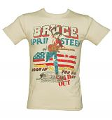 Men's Ecru '85 US Tour Bruce Springsteen T-Shirt