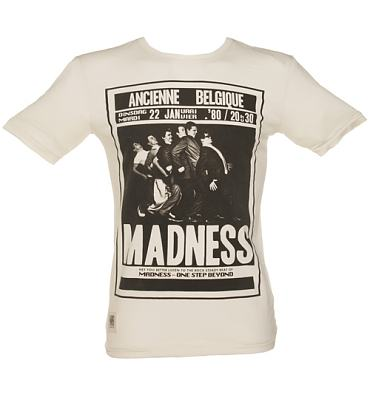Men's Ecru Belgium Tour Madness T-Shirt from Worn By