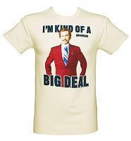 Men's Ecru I'm Kind Of A Big Deal Anchorman T-Shirt