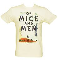 Men's Ecru Of Mice And Men By John Steinbeck T-Shirt from Out Of Print