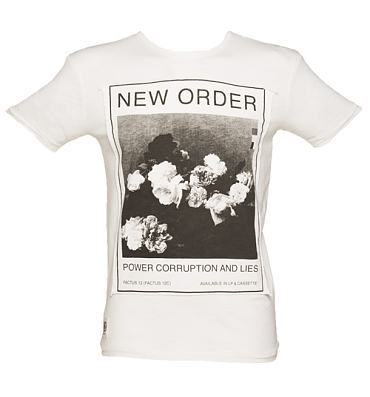 Men's Ecru Power Corruption And Lies New Order T-Shirt from Worn By
