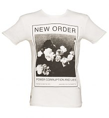 Men's Ecru Power Corruption And Lies New Order T-Shirt from Worn By [View details]