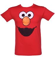 Men's Elmo Face Sesame Street T-Shirt