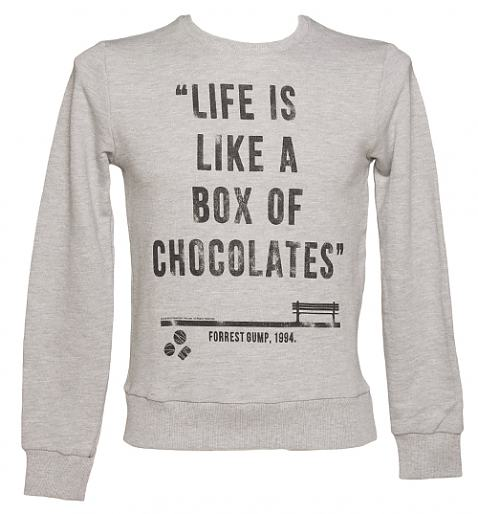 Men's Forrest Gump Box Of Chocolates Quote Pullover from TruffleShuffle