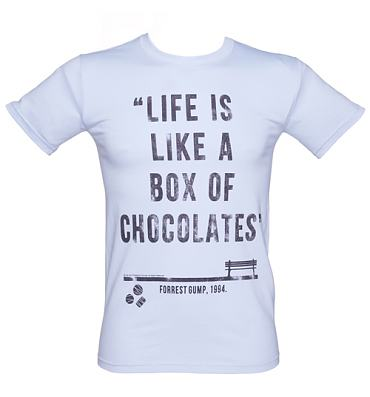 Men's Forrest Gump Box Of Chocolates Quote T-Shirt