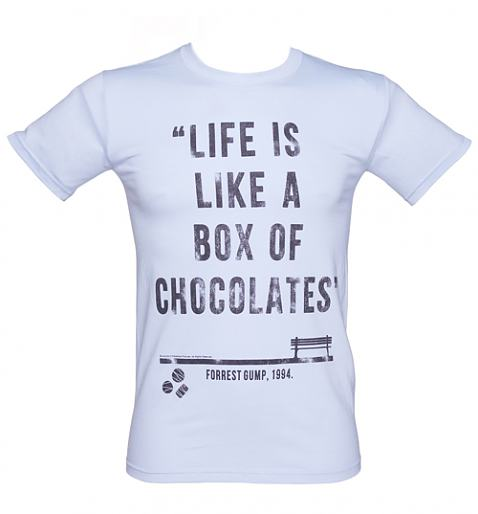Men's Forrest Gump Box Of Chocolates Quote T-Shirt from TruffleShuffle