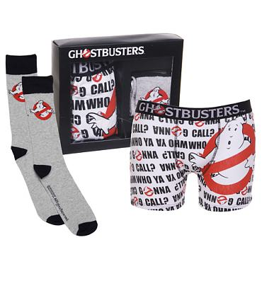 Men's Ghostbusters Boxers and Socks Gift Set
