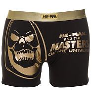 Men's Skeletor Gold Foil Print He-Man Boxer Shorts