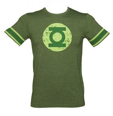 Men's Green Lantern Logo College Style T-Shirt