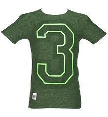 Men's Green Marl 3 Mick Jagger T-Shirt from Worn By [View details]