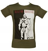 Men's Green Masters of the Universe Skeletor Skullface T-Shirt